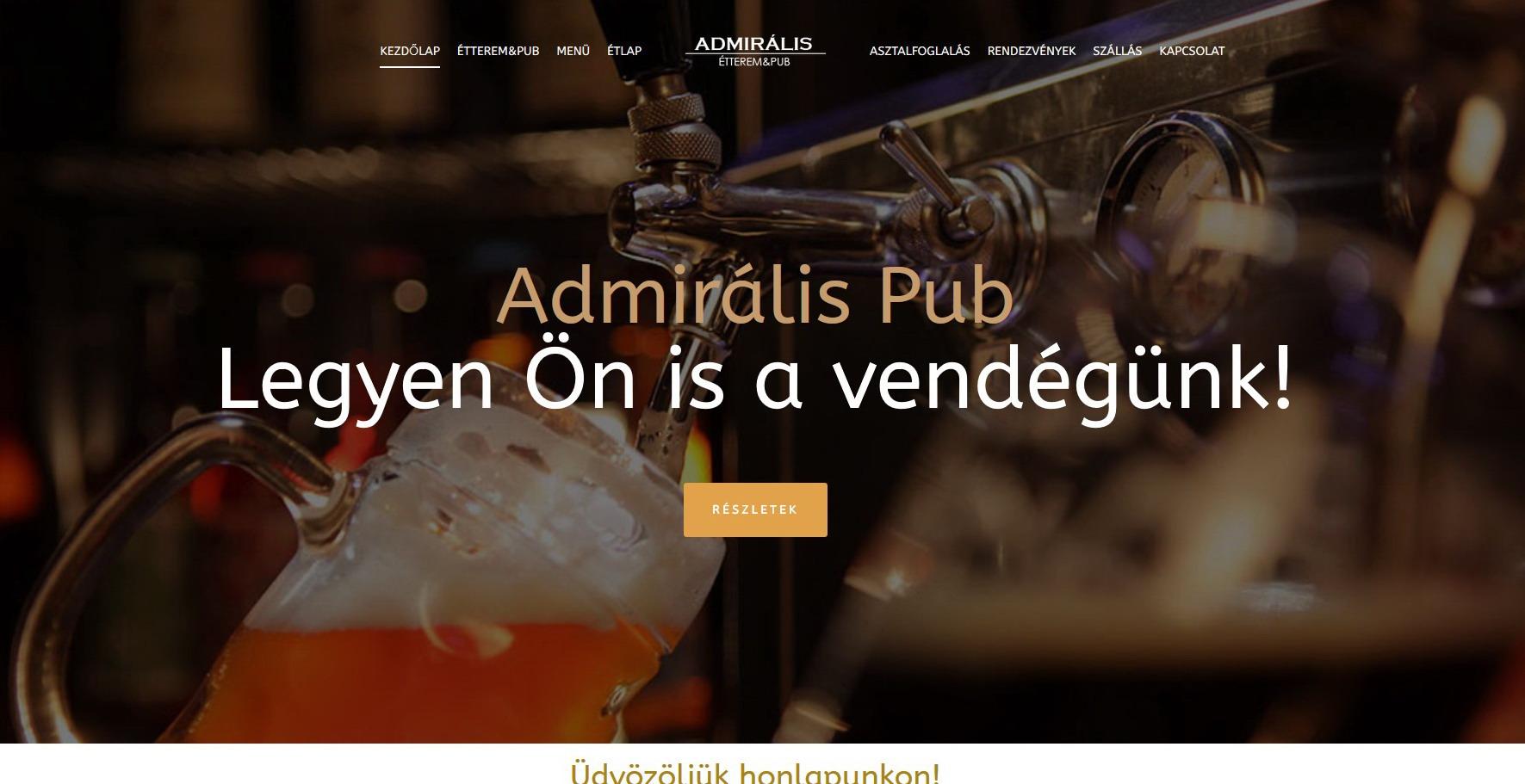 Admirális Étterem – Hajdúszoboszló