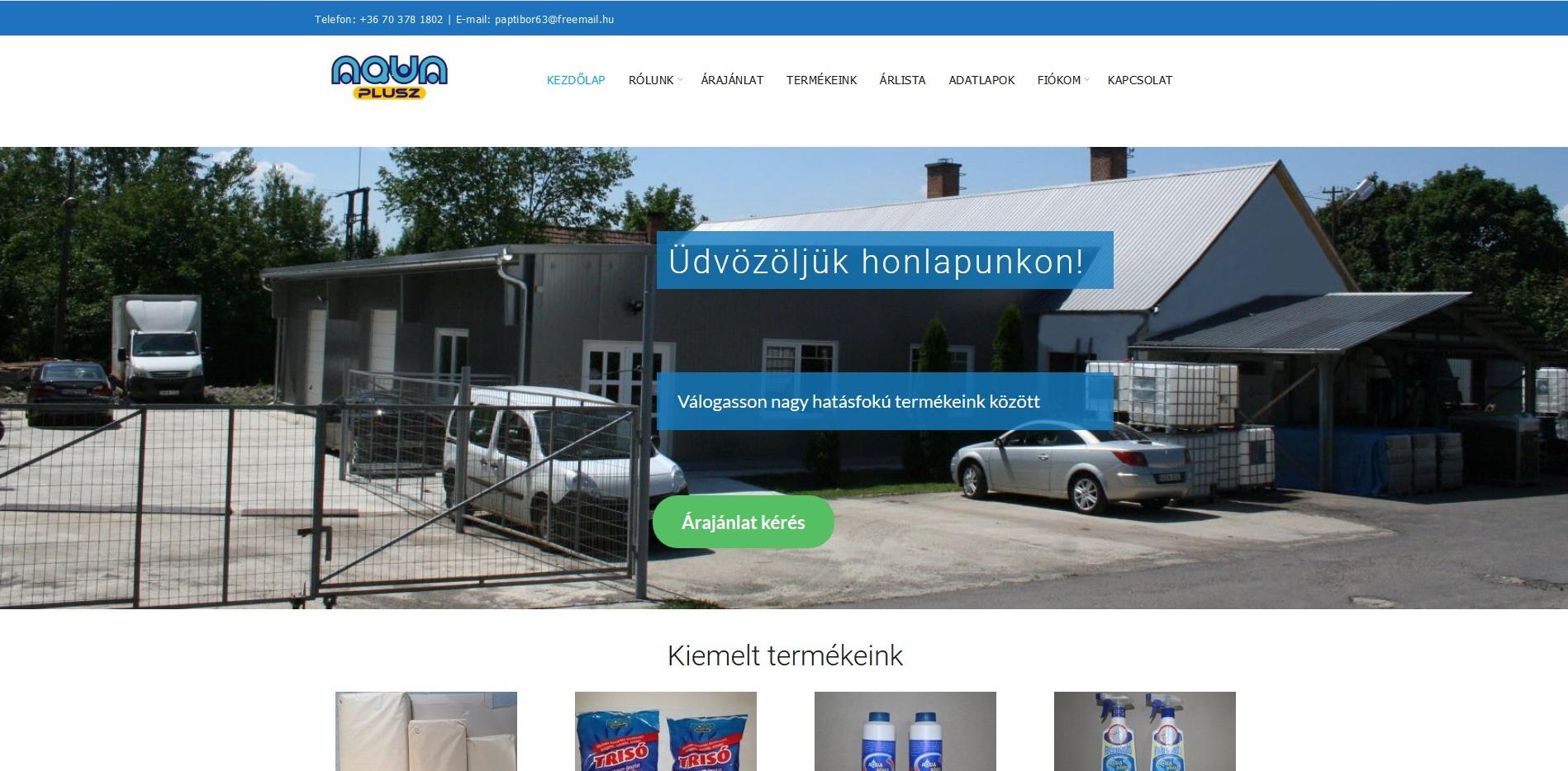 AquaPlusz – A Start 2001 Kft. Honlapja